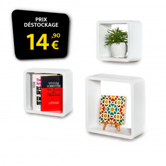 Triple cube design deco